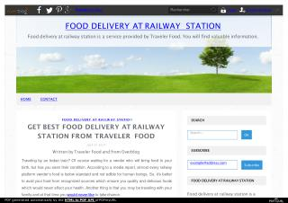 Get Best Food Delivery at Railway Station from Traveler Food