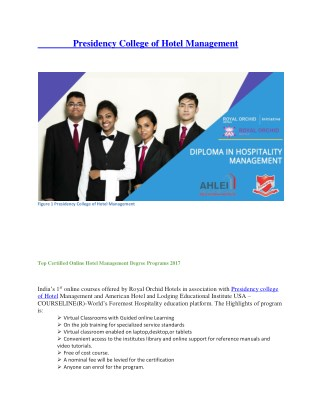 Hospitality Management Colleges in India