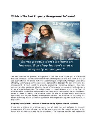 Which is the best property management software?