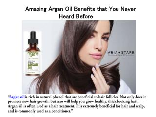 Argan Hair Oil benefits that you should know