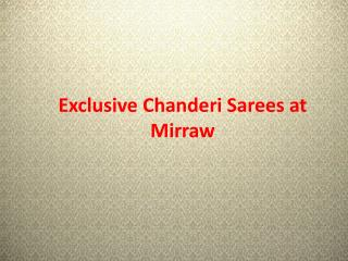 Exclusive Chanderi Sarees Online At Best Prices