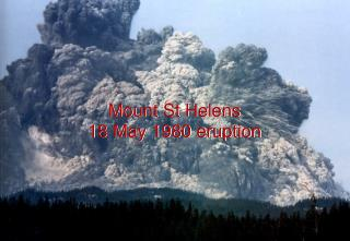 Mount St Helens 18 May 1980 eruption