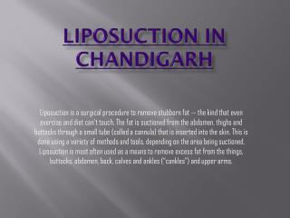 Best Liposuction in Chandigarh