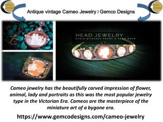 Vintage Cameo Jewelry From Gemco Designs