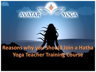 Reasons why you Should Join a Hatha Yoga Teacher Training Course