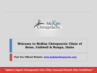 Find Reliable Chiropractic Treatment | Mckim Chiropractic Clinic