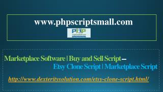 Marketplace Software | Buy and Sell Script - Etsy Clone Script | Marketplace Script