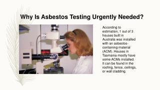 Asbestos Testing Launceston