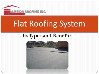 Flat Roof System - Benefits and Types