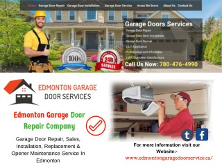 Garage Door Repair Edmonton