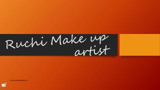 Bridal make up artist in mohali | Ruchi Bridal Artist