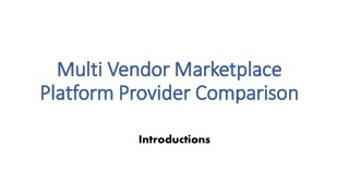 Top Best Multi Vendor Marketplace Platform Provider Comparison