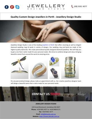 Quality Custom Design Jewellers in Perth - Jewellery Design Studio