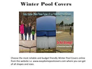 Above Ground Winter Cover