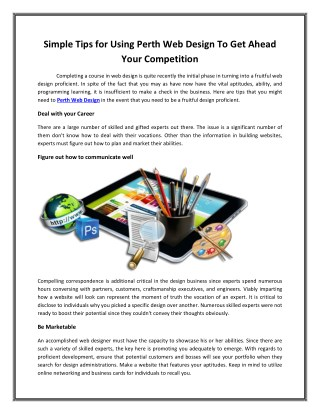 Simple Tips for Using Perth Web Design To Get Ahead Your Competition
