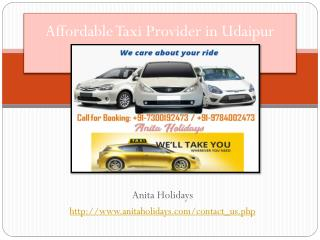 Affordable Taxi Provider in Udaipur