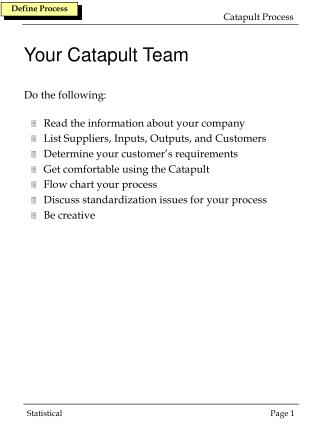 Your Catapult Team