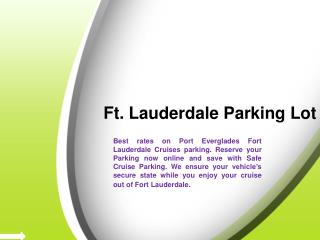 Parking at Fort Lauderdale Cruise Terminal