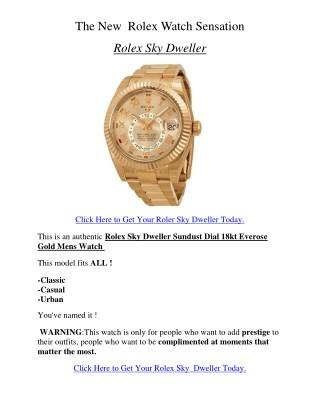 The New Rolex Watch Sensation - Rolex Sky Dweller