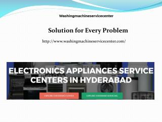 Washing Machine Service Center in Hyderabad - Washingmachineservicecenter