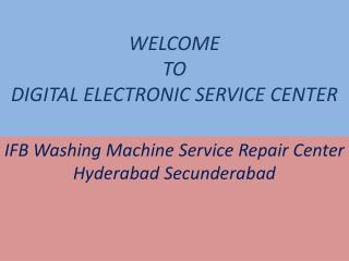 IFB Washing Machine Service Repair Center Hyderabad Secunderabad