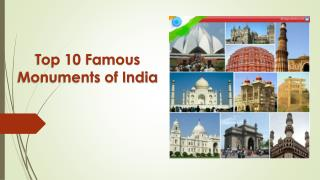 Top 10 Famous Indian monuments