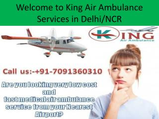 King Air Ambulance Services from Kolkata to Delhi at Low Fare