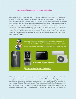 Samsung Refrigerator Service Center Hyderabad