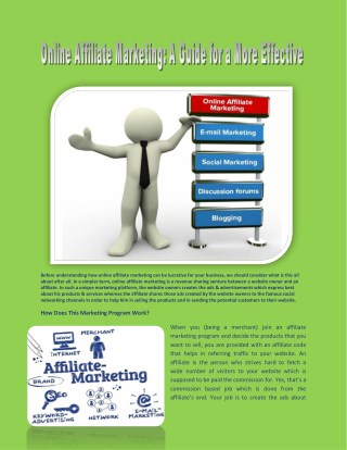 Online Affiliate Marketing by Adcheetah