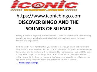 DISCOVER BINGO AND THE SOUNDS OF SILENCE