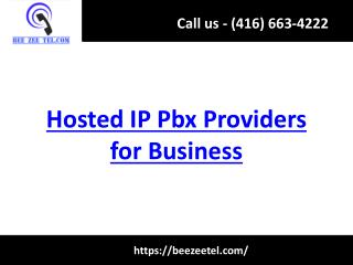 Hosted IP Pbx Providers for Business - Beezeetel