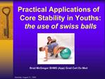 Practical Applications of Core Stability in Youths: the use of swiss balls