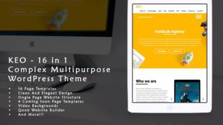 KEO - 16 IN 1 COMPLEX MULTIPURPOSE WORDPRESS THEME REVIEW