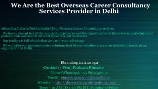 Best Overseas Career Consultancy Services Provider in Delhi