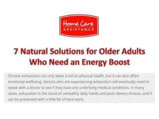 7 Natural Solutions for Older Adults Who Need an Energy Boost