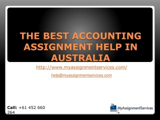 Exceleent Accounting Assignment Help by Experts