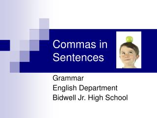 Commas in Sentences