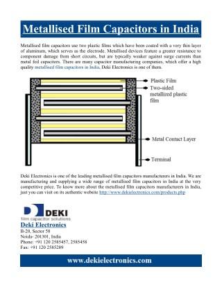 Metallised Film Capacitors in India