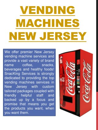 vending Machine company New Jersey