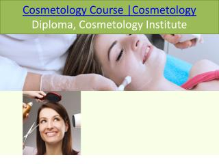 Cosmetology Course | Cosmetology Diploma