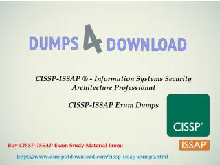 CISSP-ISSAP Certifications Dumps Free Download | CISSP-ISSAP Study Materiel