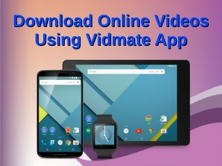 Download Online Videos Using Vidmate App
