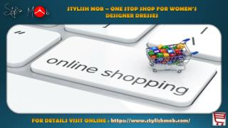 Online shopping womens clothing from stylish mob