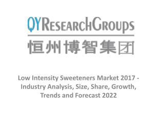 Low Intensity Sweeteners Market 2017 - Industry Analysis, Size, Share, Growth, Trends and Forecast 2022