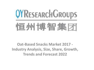Oat-Based Snacks Market - Industry Outlook, Size, Share, Growth Prospects, Key Opportunities, Trends and Forecasts 2017