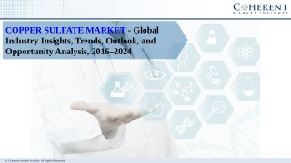 Copper Sulfate Market- Industry Insights, Trends, Outlook, and Opportunity Analysis, Forecast 2024