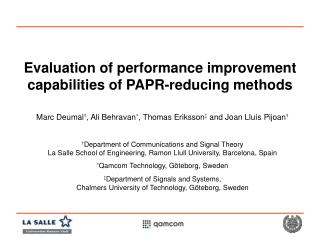 Evaluation of performance improvement capabilities of PAPR-reducing methods