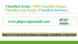 Classified Ads Script | Classified Software - Classified Script | PHP Classified Script