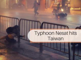 Typhoon Nesat makes landfall in Taiwan