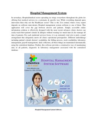 Hospital/Healthcare Management System Software at AITS Pune